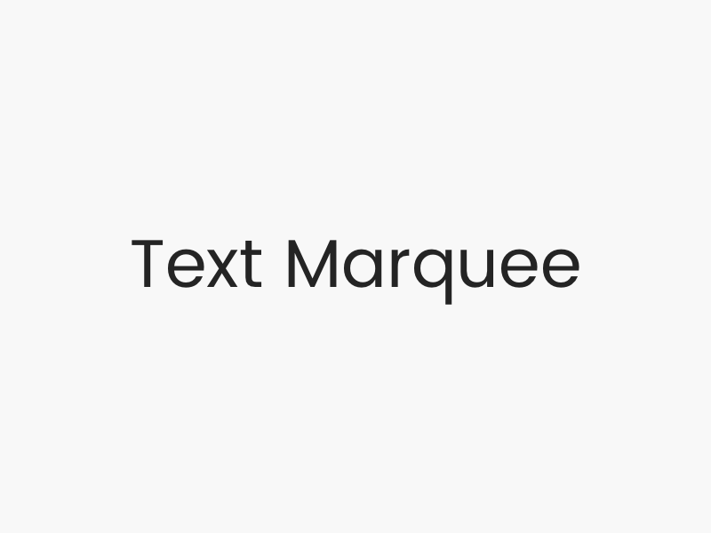Text Marquee Effect