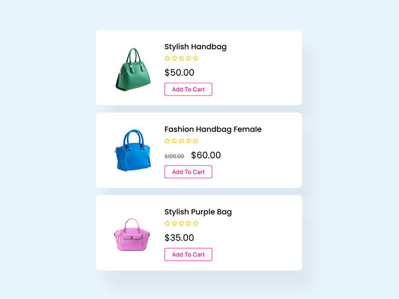 Woocommerce Product List
